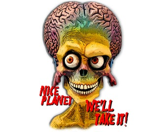 T-SHIRT: Mars Attacks! / Nice Planet - Classic T-Shirt & Ladies Fitted Tee - (LazyCarrot)