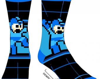 Mega Man Socks (New, Free Shipping For Additional Products, 1 Pair)