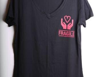 FRAGILE Tshirt - V Neck