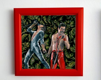 Freddie Mercury - Print from original oil on linen