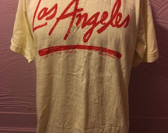 Deadstock Los Angeles City Of The Angels T-Shirt L 80's