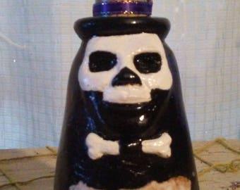 Mardi Gras voodoo Baron Samedi potion bottle