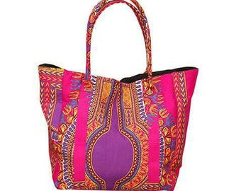 African fabric ladies bag