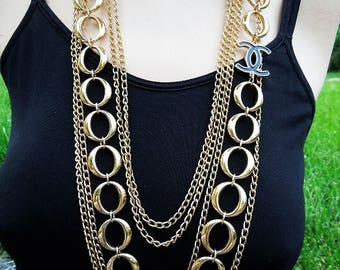 Bold and Beautiful Too Necklace, designer inspired jewelry, designer necklace, chanel inspired