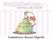 KAWAII CACTUS - kawaii clipart, pet dog clipart, cute clipart, planner accessories, girl clipart, planner clipart, planner stickers
