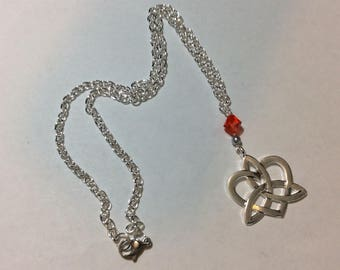 """Necklace for women """"Celtic knot and Austrian Crystal"""""""