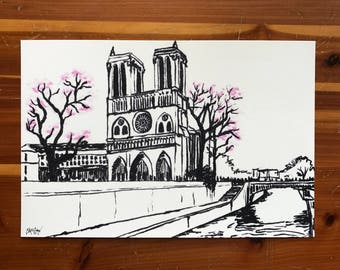 Notre Dame Cathedral Fine Art Print