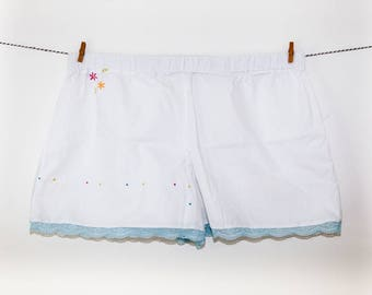 Pyjama shorts - ethical luxury sleepwear handmade in UK