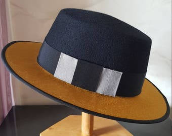 Unique - Hat-inspired 'New boater' Boater, for men and women.  Making by hand in France.