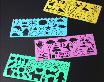 Drawing Stencils for Kids - Set of 4