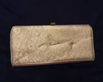 Gold Lame Brocade Clutch