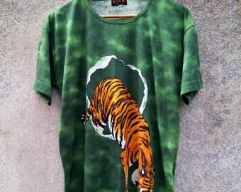 Vintage Rare! EVEX BY KRIZIA Tiger Sukajan Embroidery T-Shirt