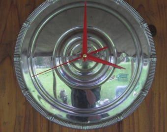 1950's Rambler Hubcap Clock