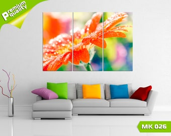 Macro on a flower, Modular painting for Home & Office Decoration, Canvas print wall art, Poster home décor, Multi panel canvas print