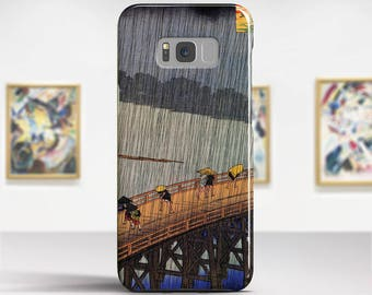 "Utagawa Hiroshige, ""Evening Shower at Atake"". Samsung Galaxy S8 Case LG V30 case Google Pixel Case Galaxy J7 2017 Case and more."