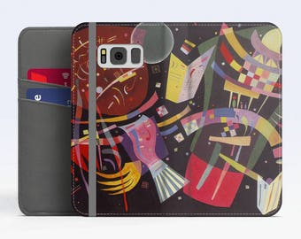 "Vasily Kandinsky, ""Composition X"". Samsung S8 Wallet case. Galaxy S7 wallet case. Samsung Galaxy S6 wallet case. iPhone Wallet cases."