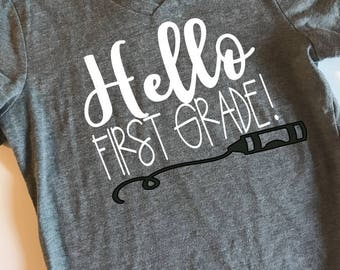 Hello First Grade SVG, PDF, PNG, Dxf Design