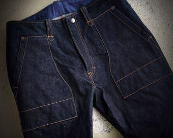 denim trousers work style 17oz