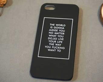 Postive Slogan iPhone 6s case, iPhone 6 case, iPhone 6 cover, Cute iPhone 6 case,  iphone se case, iPhone 5s case