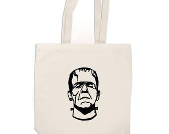 Frankenstein Monster Horror Canvas Tote Bag Market Pouch Grocery Reusable Merch Massacre Black Friday Christmas Merch Massacre