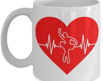 Ballet Heartbeat Mug - 11oz or 15oz Ceramic Cups For Coffee And Tea