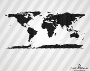 World map silhouette etsy world map diamonds dxf svg ai pdf eps rld rdworks png jpg and wmf print gumiabroncs Gallery