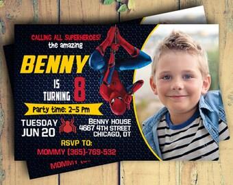 Spiderman/Spiderman Invitation/Spiderman Birthday/Spiderman Birthday Invitation/Spiderman Invites/Spiderman Birthday Party/Spiderman Party