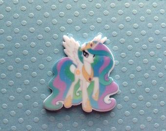 5pc My Little Pony princess Celestia planar flatback