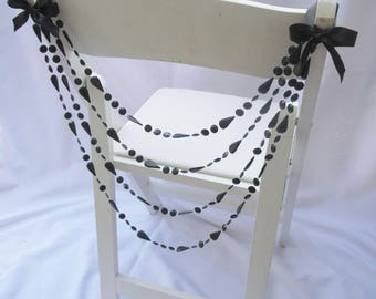 Beaded Chair Decor for Weddings or Formal Events