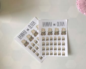 Cute Girl / character / store / race / Blonde - Matte Stickers / Planner Stickers