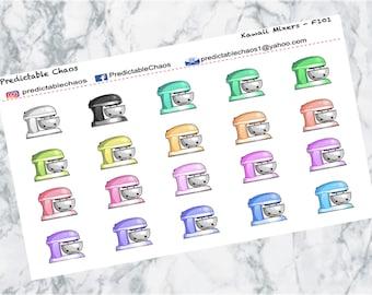 Kawaii Baking Mixers, planner stickers