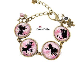 "Bracelet ""Alice in Wonderland of"" bronze girl costume jewelry"