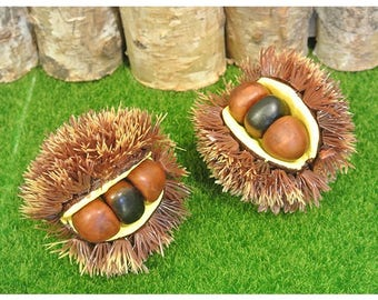 Artificial chestnut mdel / Artificial chestnut bur model / Chestnut Miniature / Fruit miniature