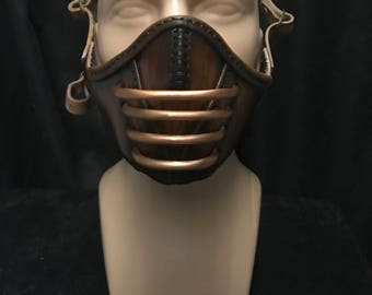 Steampunk Leather Half Mask