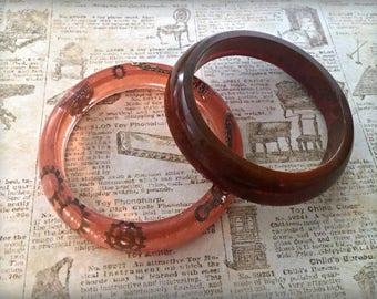 Resin Bangle Chunky Bracelets, Resin Bangles, Steampunk Jewelry, Resin Bracelet, Steampunk Bracelet, Resin Bangle Gift