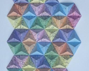 3D Paper Origami Artwork - framed