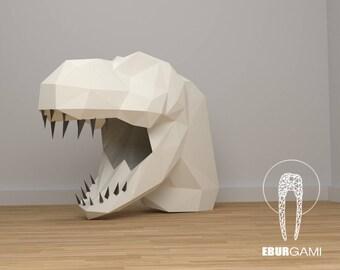Dinosaur Mask -  T-Rex Mask - Paper Mask - DIY Mask - Dinosaur Costume