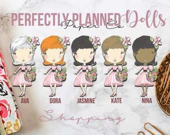003 | Shopping | Planner Dolls // Character Planner Stickers