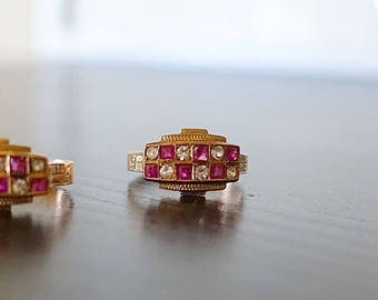 Antique Victorian  Diamond and Ruby Rings