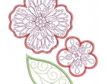 Pretty Petals - In The Hoop - Machine Embroidery Design