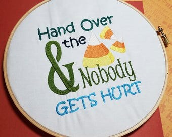 Hand Over the Candy Corns - Machine Embroidery Design