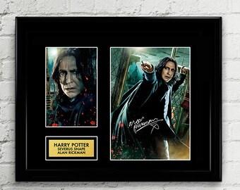 Alan Rickman Severus Snape - Harry Potter Signed Poster Art Print Artwork Reprint - Alan Rickman, Severus Snape, JK Rowling, Hogswarts