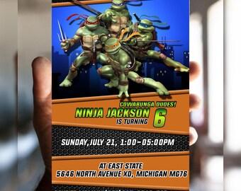 Teenage Mutant Ninja Turtle Birthday Invitation, Ninja Turtle Invitation, Ninja Turtle Birthday, Ninja Turtles, Ninja Turtle Party