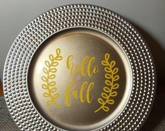 Fall Decorative Plates