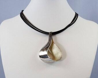 Modernistic Silver Pendant