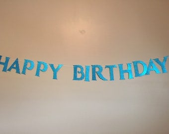 FROZEN Inspired Happy Birthday/Let it Go Banner-Free Shipping
