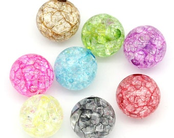 Acrylic 12mm round spacer beads