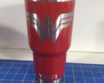 Wonder Woman Powder Coated Yeti 30oz