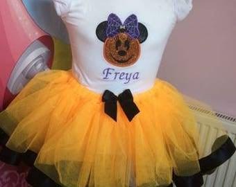 baby halloween dress, tutu set, halloween, baby girl, halloween costume ,disney tutu, girls hallowen, halloween dress, girls clothing