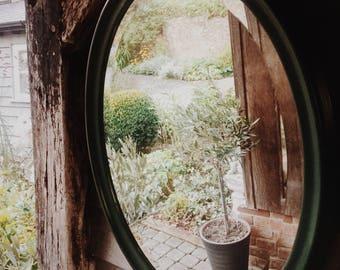 Vintage Large Oval Bevelled Mirror
